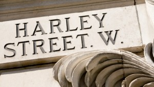 Harley street sign, London, England